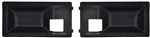 1970 - 1974 Camaro Inner Door Handle Cup Insert Escutcheons for DLX interior, PAIR