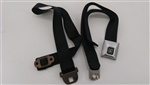 1968 - 1969 Seat Belt, Shoulder, Deluxe, Coupe, Black, Each