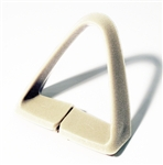1977 - 1981 Seat Belt Shoulder Side Guide, Off White