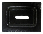 1967 - 1969 Camaro Rear Fold Down Seat Rubber Bumper Trim Plate, Each