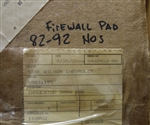 1986 - 1992 Firewall Insulation Pad with or without Air Conditioning, NOS GM