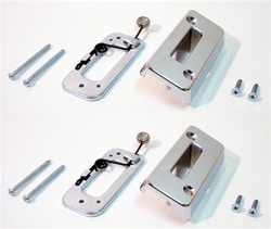 1969 Camaro Headrest Escutcheon Plate and Adjust Lock Bracket Set, Chrome, 8785236