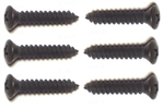 1982 - 1992 Black Sunvisor Support Screw Set-6 Pieces