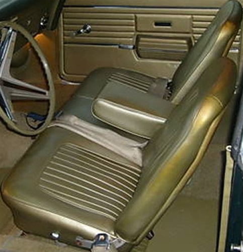 1967 1968 Camaro Convertible Standard Interior Rear Seat Covers  Black