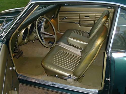 1967 1968 Camaro Standard Interior Front Bench Seat