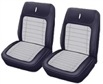 1968 Camaro Deluxe Houndstooth Front Bucket Seat Covers Upholstery Set