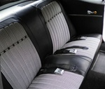 1969 Camaro Black Houndstooth Rear Back Seat Covers Set
