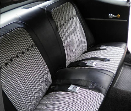 1969 Camaro Rear Seat Covers Set Black Houndstooth