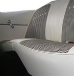 1969 Camaro Ivory White Houndstooth Rear Back Seat Covers Set