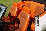 1969 Front and Rear Orange Houndstooth Seat Covers Upholstery Set