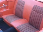 1969 Camaro Orange Houndstooth Rear Back Seat Covers Set