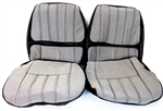 1970 Camaro Front Bucket Seat Covers Set, Deluxe Checkerboard Cloth