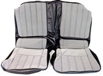 1970 Camaro Rear Back Seat Covers Set, Deluxe Checkerboard Cloth