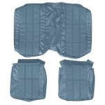 1977 - 1978 Camaro Rear Deluxe Back Seat Covers Set, Vinyl with Cloth Inserts