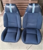 1980 - 1981 Front Bucket Seat Covers Set, Deluxe / Berlinetta, Vinyl with Cloth Inserts