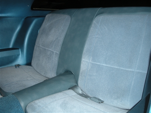1979 Camaro Rear Seat Covers, Deluxe or Berlinetta, Vinyl with Cloth Inserts
