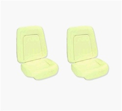 1967 - 1968 Camaro Front Bucket Seat Foams Set, Standard Interior, Pair