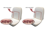 1969 Camaro Front Bucket Seat Foam with Wire, Deluxe Interior, Each