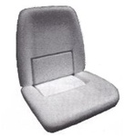 1970 Front Bucket Seat Foam, Standard or Deluxe Interior, Each