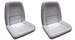 1970 Front Bucket Seat Foam Set, Standard or Deluxe Interior, Pair