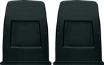 1971 - 1978 Camaro Front Bucket Seat Back Panels, Black Pair