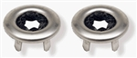 1968 - 1969 Camaro Door Lock Knob Ferrules, Pair