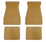 1973 - 1981 Floor Mats Set, Front and Rear, Rubber with Grippers, Camel Tan, GM, OE Style