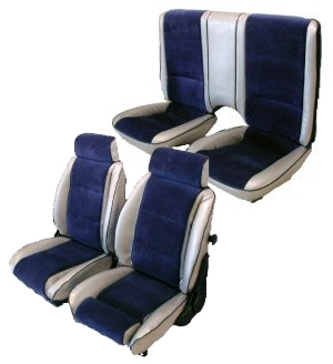 1982 Camaro Seat Covers Set Front And Rear Solid Silver Sierra