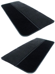 1986 - 1992 Camaro Door Panels Set, Encore Velour with Cut Pile Carpet