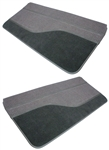 1989 - 1992 Camaro Door Panels Set, Rally Sport / IROC / 91 - 92 Z28, Madrid Velour and Cut Pile Carpet