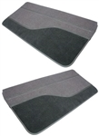 1989 - 1992 Camaro Door Panels Set, Rally Sport / IROC / 91 - 92 Z28, Regal Velour and Cut Pile Carpet