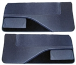 1982 - 1992 Camaro Door Panels Set, Regal Velour with Cut Pile Carpet and Vinyl Map Pockets