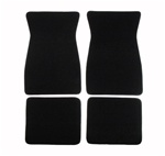 1970 - 1981 Black 80/20 Loop Front and Rear Floor Mats Set, Carpeted with Grippers