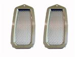 1970 - 1981 Door Jamb Air Vent Louvers, Billet Aluminum, Polished Finish, Pair