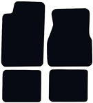 1993-2002 Floor Mats Set Carpeted Black