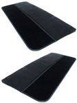 1986 - 1992 Camaro Door Panels Set, GM Madrid Grain Vinyl with Cut Pile Carpet
