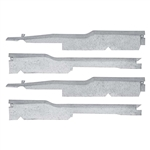 1967 - 1969 Camaro Door Jamb Sill Plate Under Carpet Wiring Harness Guard Cover Protectors Set, 4 Pieces