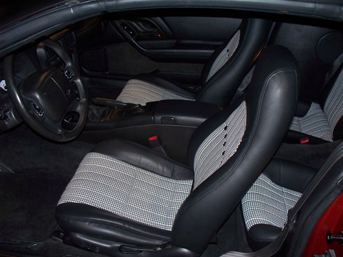 1993 1996 Camaro Houndstooth Front Bucket Seat Covers Set