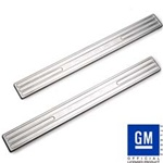 2010 - 2011 Camaro Logo Door Sill Plates, Chrome