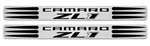 "2010 - 2011 Camaro "" ZL1 "" Logo Door Sill Plates, Two Tone (Black and Chrome)"