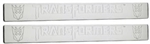 2010 - 2011 Chrome Transformers Decepticon Logo Door Sill Plates