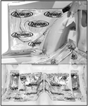 1967 - 1969 Rear Seat Heat and Sound Deadening Insulation (Dynamat Xtreme), Underneath