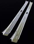 1967 - 1969 Camaro Door Jamb Step Sill Plates, Body by Fisher, Chrome, USA Made, Pair