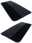 1986 - 1992 Door Panels Set, Choice of Colored Vinyl or Velour and Colored Cut Pile Carpet