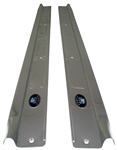 1970 - 1981 Camaro Fisher Door Sill Step Plates, Pair of LH and RH with Rivets