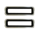 1967 Tail Light Bezels Set, Brushed, Pair