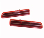 1969 Camaro LED Rally Sport Tail Light Lens Assemblies Set, Pair