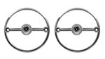 1974 - 1977 Camaro Park Light Lens Trim Bezel Set, Pair USA Made