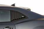2010 - 2015 Camaro Black Quarter Window Louvers, Pair