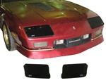 1985 - 1989 Camaro Blackout Headlight Covers Set, for 85 - 89 IROC-Z and 90 - 92 Z28, Pair